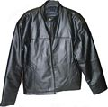 Solid Genuine Leather Jacket - Size M